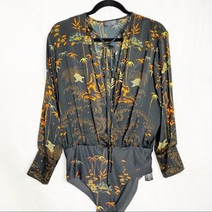 Zara Asian print bodysuit